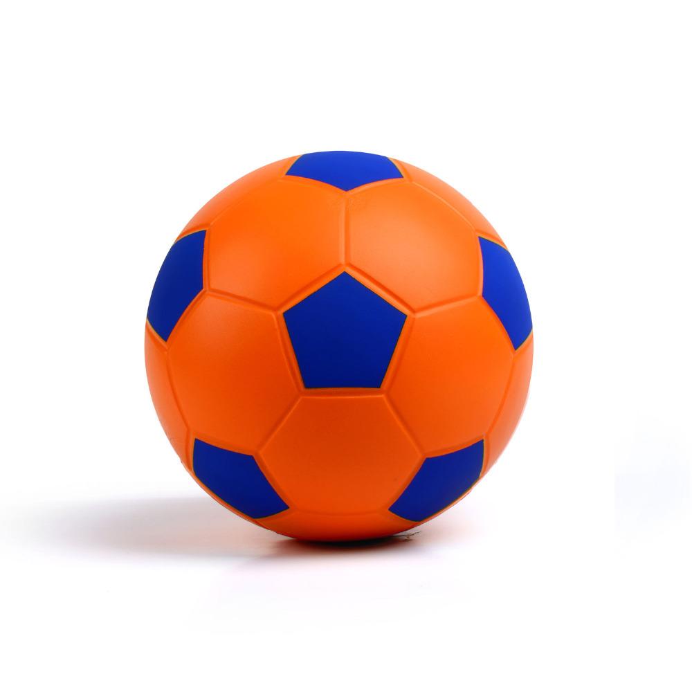 "Soccer Ball Size4 New Arrival Classic Training Soccer Ball Football Ball Size 4 High Quality PU Soccer Ball Orange & Blue 8""20cm(China (Mainland))"