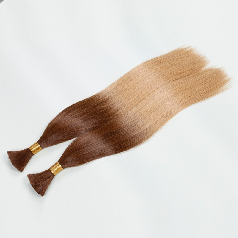 Sleek Ombre 10A Brazilian Hair Bulk Hair Best Quality Girls Human Hair Two-Tone T17/26 Colorful Hair 2pcs/lot Fast Shipping
