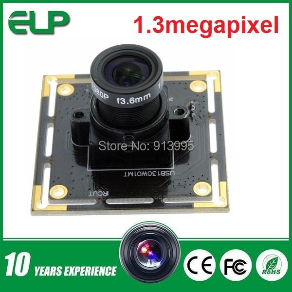 1.3 megapixel 960P 1280x720 30fps Mjpeg usb 2.0 pc web camera module ELP- USB130W01MT-L28(China (Mainland))
