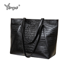 Buy YBYT brand 2017 new fashion casual glossy alligator totes large capacity ladies simple shopping handbag PU leather shoulder bags for $11.99 in AliExpress store
