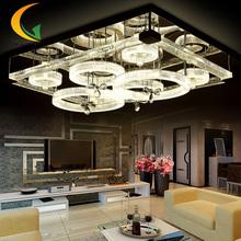 Led living room lamp crystal ceiling lamp rectangular bedroom modern minimalist atmosphere restaurant lighting(China (Mainland))