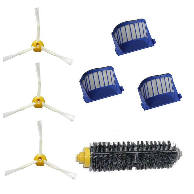 New Plastic AeroVac Filter Brush for iRobot Roomba 600 Series Vacuum 3 arms 650 660 630 620 Factory wholesale free post