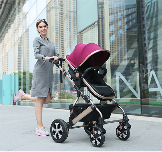 GS CCC cerficated Baby Stroller 5 Colors New Born Can Use RU Free sale leg cover free - King Home store