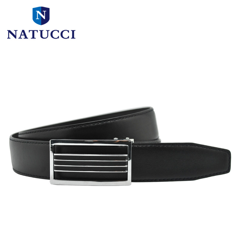 2016 New automatic belts for men double size cowhide leather strap auto lock Skeleton nickle metal buckle dress belt(black)(China (Mainland))