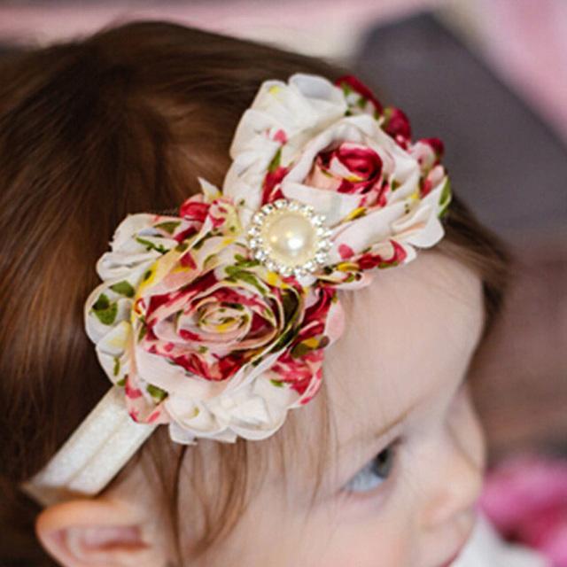 1 шт. мода девочка малышей младенческой кружева подсолнечника жемчужина цветочные ...
