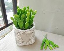 Wholesale 48 pcs/lot  DIY home decorative flower mini cactus plants artificial succulents wedding plastic plant meaty fleshy(China (Mainland))