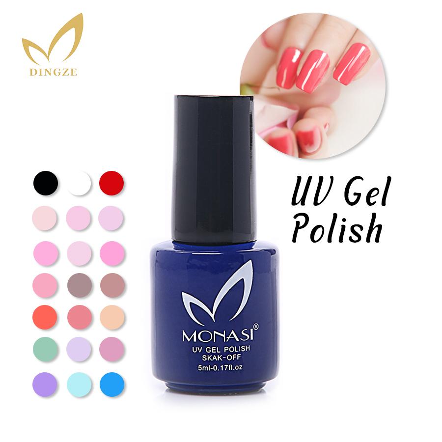MONASI Free SHipping Bright Red UV Gel Nail Polish For