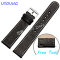 For Pebble Time Steel Smart Watch band Genuine Leather Watchband 20mm22mm New arrival Fit Pebble Time