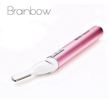 Women Pink Portable Electric Eyebrow Shaver Hair Removal Blade Trimmer Eyebrow Razor Eyebrow Shaper Depilador De Sobrancelha(China (Mainland))