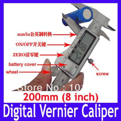 measure thickness using vernier caliper vernier calliper digital vernier caliper 200mm stainless steel vernier caliper
