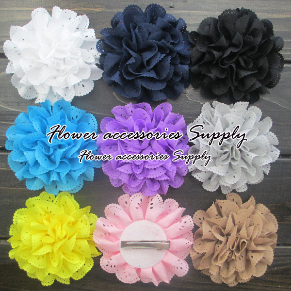 Free shipping!wholesale 200pcs/lot,high quality multilayered chiffon fabric flower,eyelet flower with handmade clip,20 colors.Одежда и ак�е��уары<br><br><br>Aliexpress