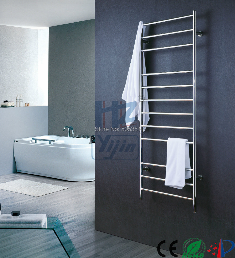 Wall Mounted Electric Towel Warmer ~ Tall wall mounted stainless steel towel warmer heated