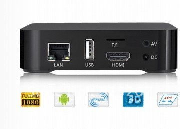 Guaranteed 100% 1080P HD  SMART SET TOP BOX--TVpad M-121S with Android  System 100% Free Shipping