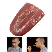 Novelty Halloween Joke Prank Realistic Pierced Fake Tongue Close up Magic Prop(China (Mainland))
