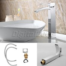 Buy Ceramic Valve Spout Brushed Nickel Kitchen Faucet Bathroom Basin Faucet Vessel One Hole/Handle Chrome Sink Mixer Basin Tap 55 for $67.39 in AliExpress store