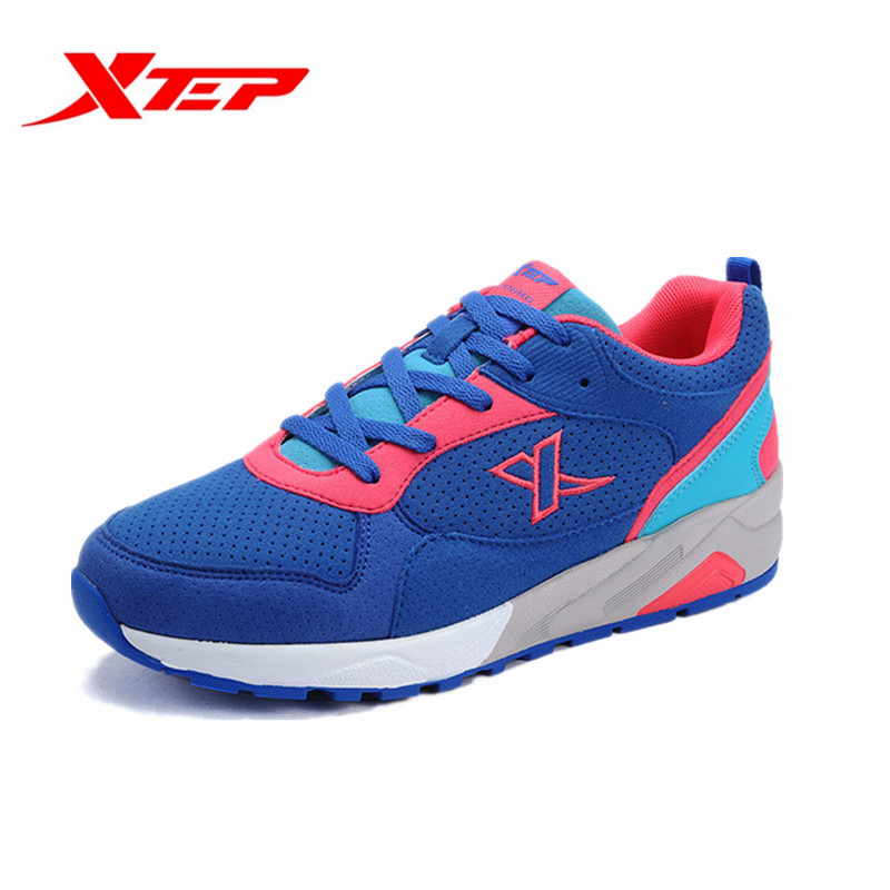 Xtep Womens Outdoor Sport Damping Running Shoes Female Spring Autumn Wear-Resistance Lace-Up Jogging Sneakers 984118119516B3G39<br><br>Aliexpress