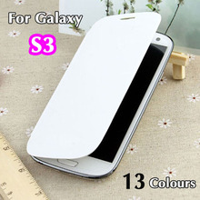 For Samsung Galaxy S3 SIII S 3 i9300 9300 I9305 Original Flip Leather Back Cover Cases Battery Housing Case Protector Holster