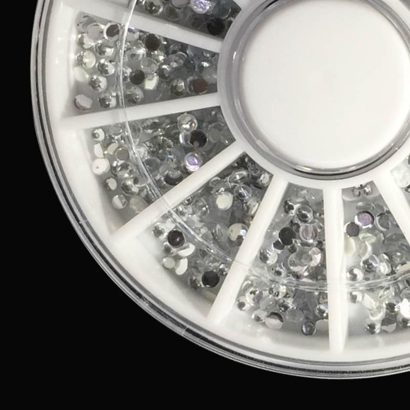 rhinestone nail  3D Nail rhinestones Art Rhine stone flat bottom diamond ornament wheel make nail DIY beauty cosmetic tool Nail