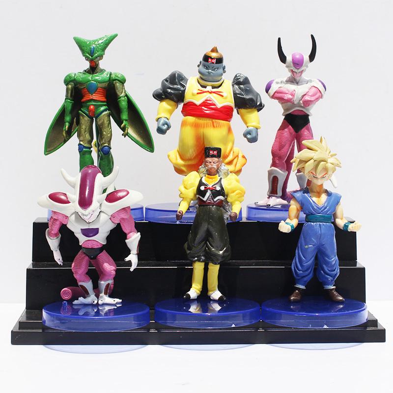 Dragon Ball Freezer Son Goku Cell Dr.Gero Son Gohan PVC Figure Toys 6Pcs/set Free Shipping<br><br>Aliexpress