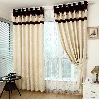 Amarillo cortinas de la ventana para sala de estar for Cortinas blancas para sala