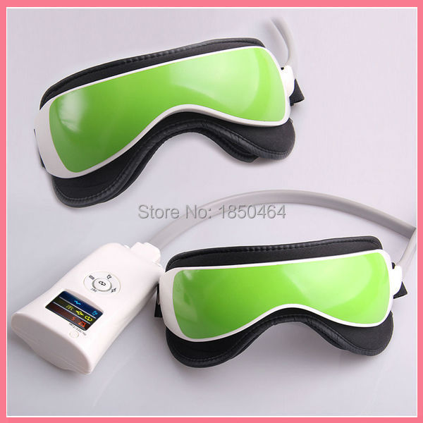 Multi Frequency Vibration Eye Massager Infrared Light Heating Soothing Music Spa(China (Mainland))