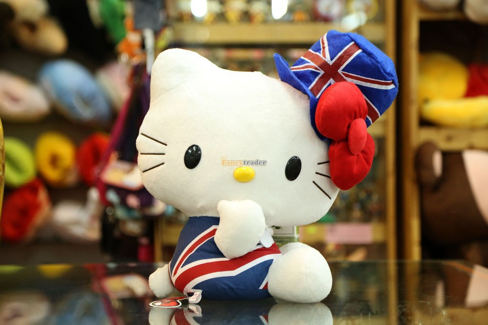 Fancytrader Limited Edition! 18 45cm Plush Stuffed Hello Kitty, Rare Hello Kitty Toy! Free Shipping FT90180<br><br>Aliexpress