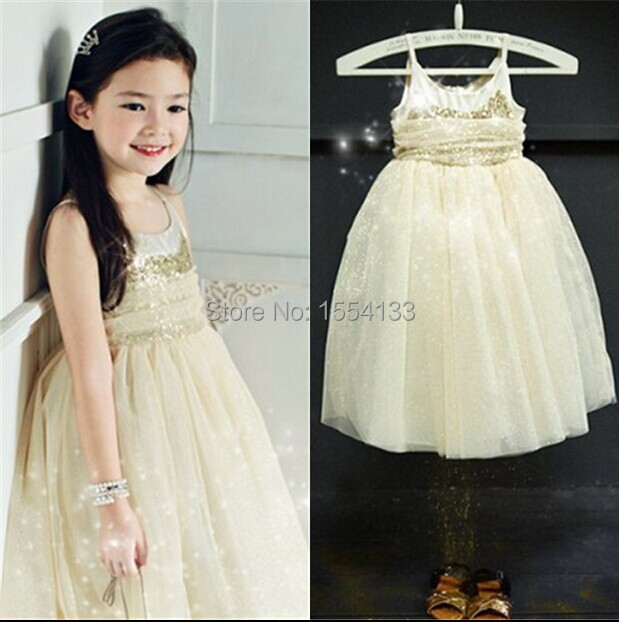 2014 New Korea Amber Summer Children Clothings,2-8yrs Baby Girl Fashion Princess Sequined Dress Baby Clothes Costume Ready Stock(China (Mainland))