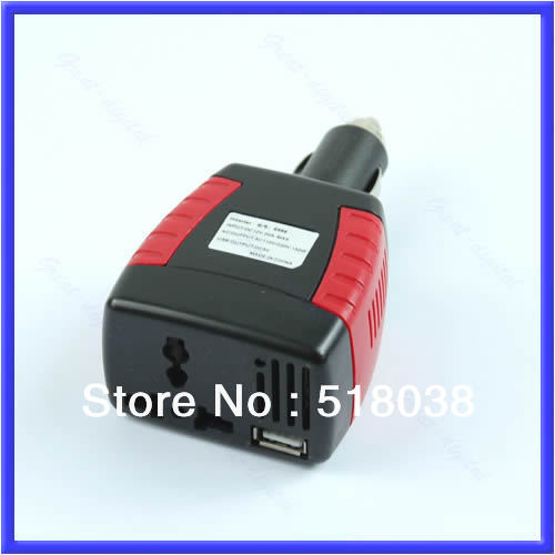 M89 New 150W Car Power Inverter Charger Adapter 12V DC To 110/220V AC+USB 5V Free Shipping(China (Mainland))