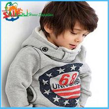 Children hoodies 2015 thick style 68 letter printing children outerwear kids coat boys clothing Childrens Clothes 3-4 years(China (Mainland))