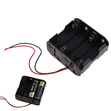 Brand New Home DIY Experiment  Text 1 Pcs 8 AA 2A Battery 12V Clip Holder Box Case with 6inch Leads Black  CLSL