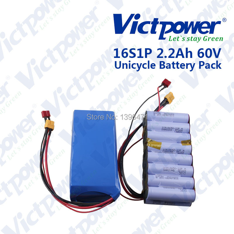 electric scooter rechargeable battery pack 132wh 60v 2.2ah build by samsung ICR18650-22P cell(China (Mainland))
