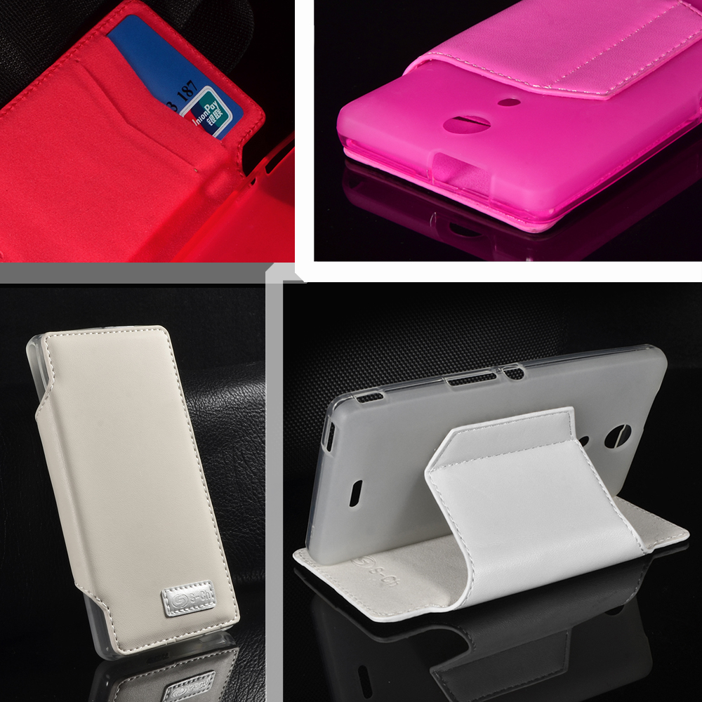 Sony Xperia ZR M36h C5502 C5503 5 Colors PU Leather Flip Wallet Case Soft TPU Inner Stand Leather Cover