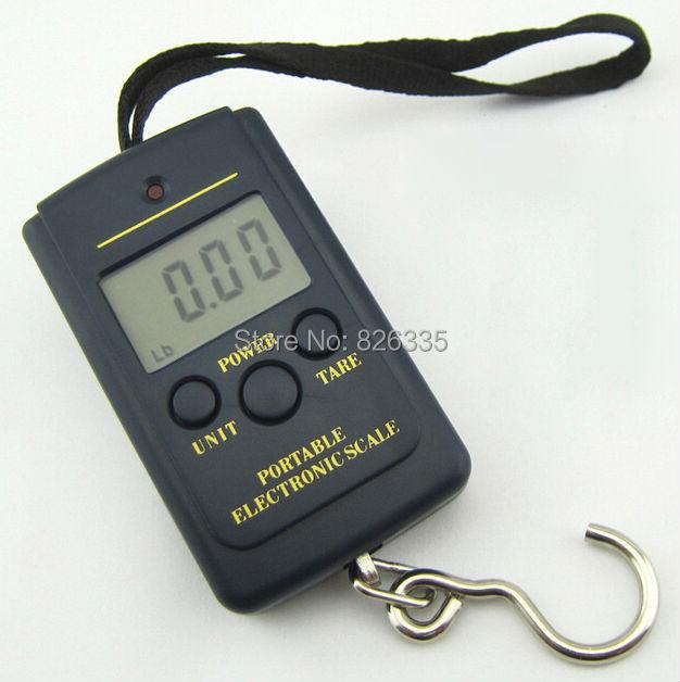Pocket Electronic Digital Scale 0.01g * 40kg Hanging Luggage Weight Balance Steelyard  Black(China (Mainland))