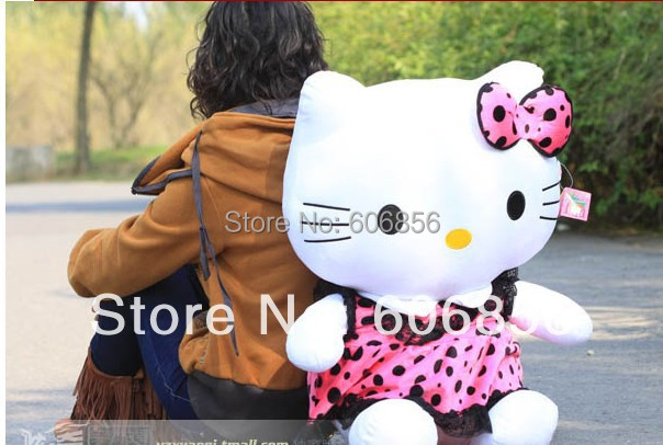 "New xmas gift doll hello kitty plush toy 50cm or 20"" stuffed animal toy FREE SHIP 1PCm Purple(China (Mainland))"