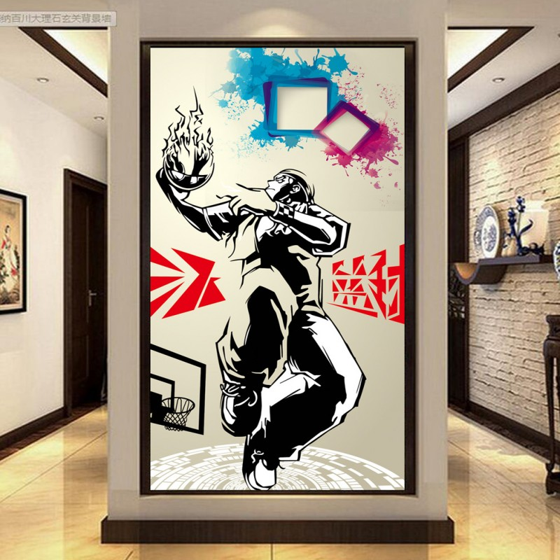 Black griffeys promotion shop for promotional black for Basketball mural wallpaper