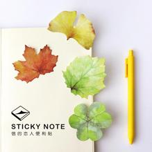 Colorful Fallen Watercolor Leaves Memo Notepad Notebook Memo Pad Self-Adhesive Sticky Notes Bookmark Promotional Gift Stationery(China (Mainland))