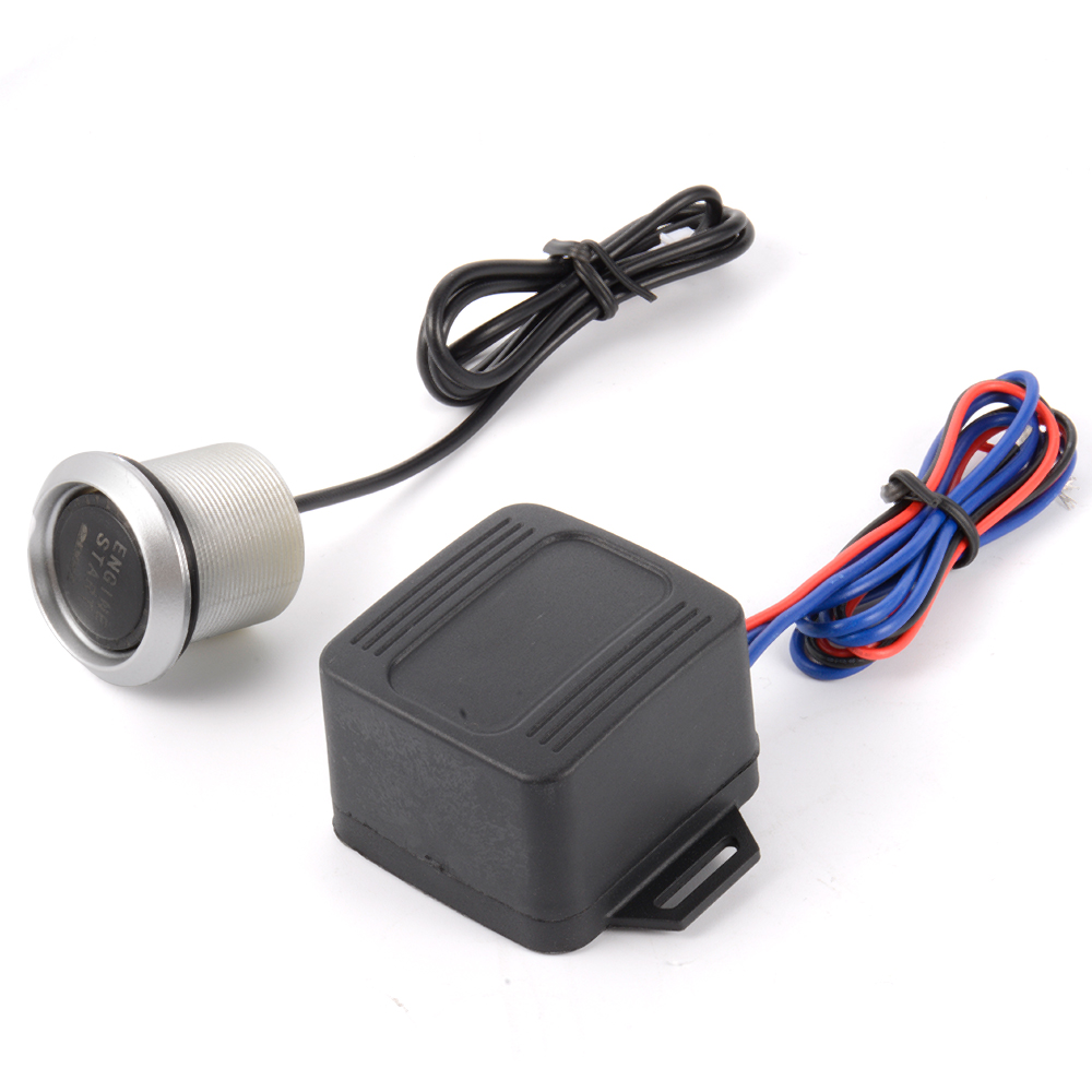PIVOT Car Blue LED 12V Illuminate Engine Push Button Starter Power Switch MA429(China (Mainland))