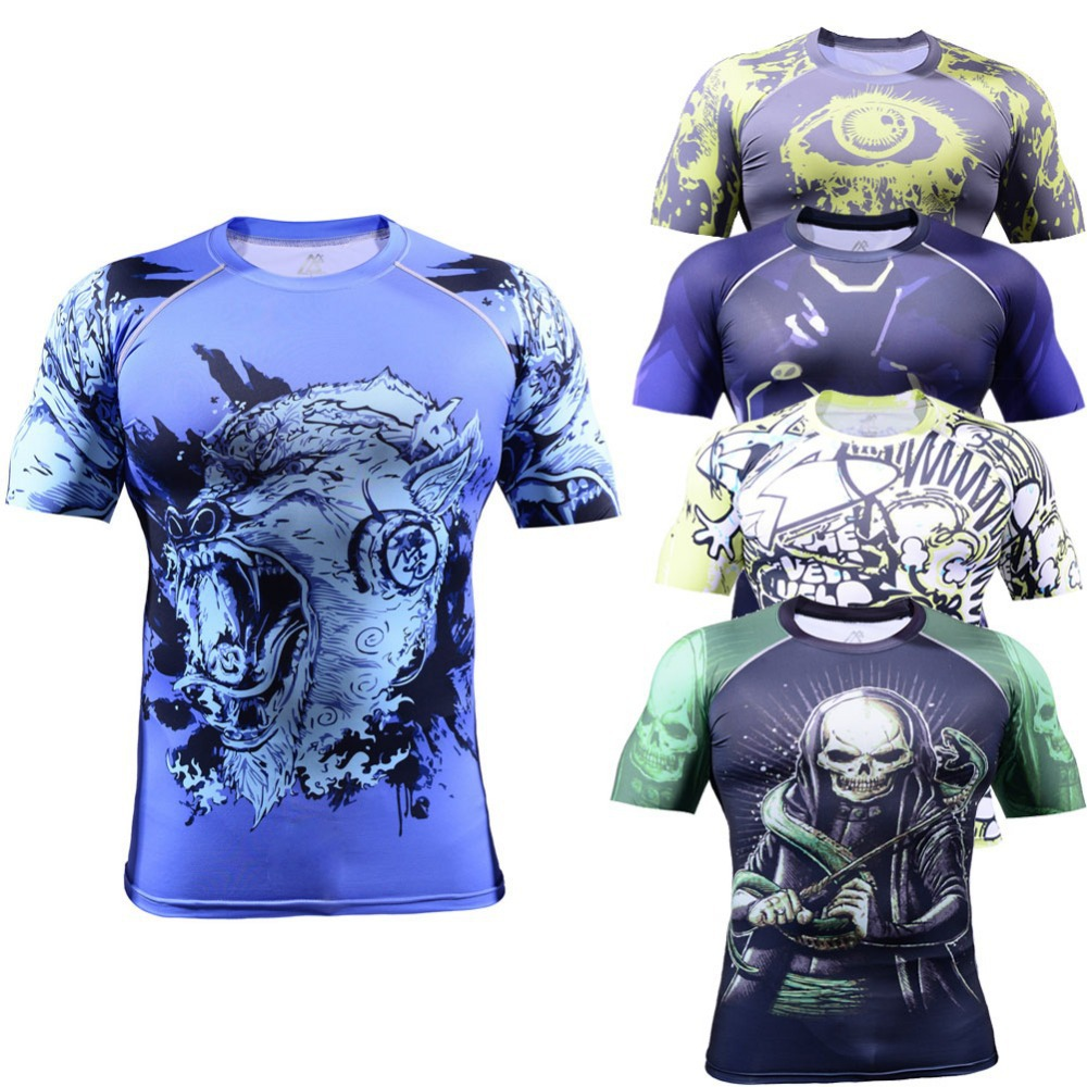 2016 mens short sleeve football jerseys all over printing spandex elastic rugby jersey unique sublimated shirts LCFS(China (Mainland))