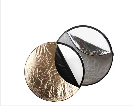 Free Shipping 5 in 1 (Silver / Translucent / Gold / White / Black) Folding Reflector Board (80cm) 1pcs/lot(China (Mainland))