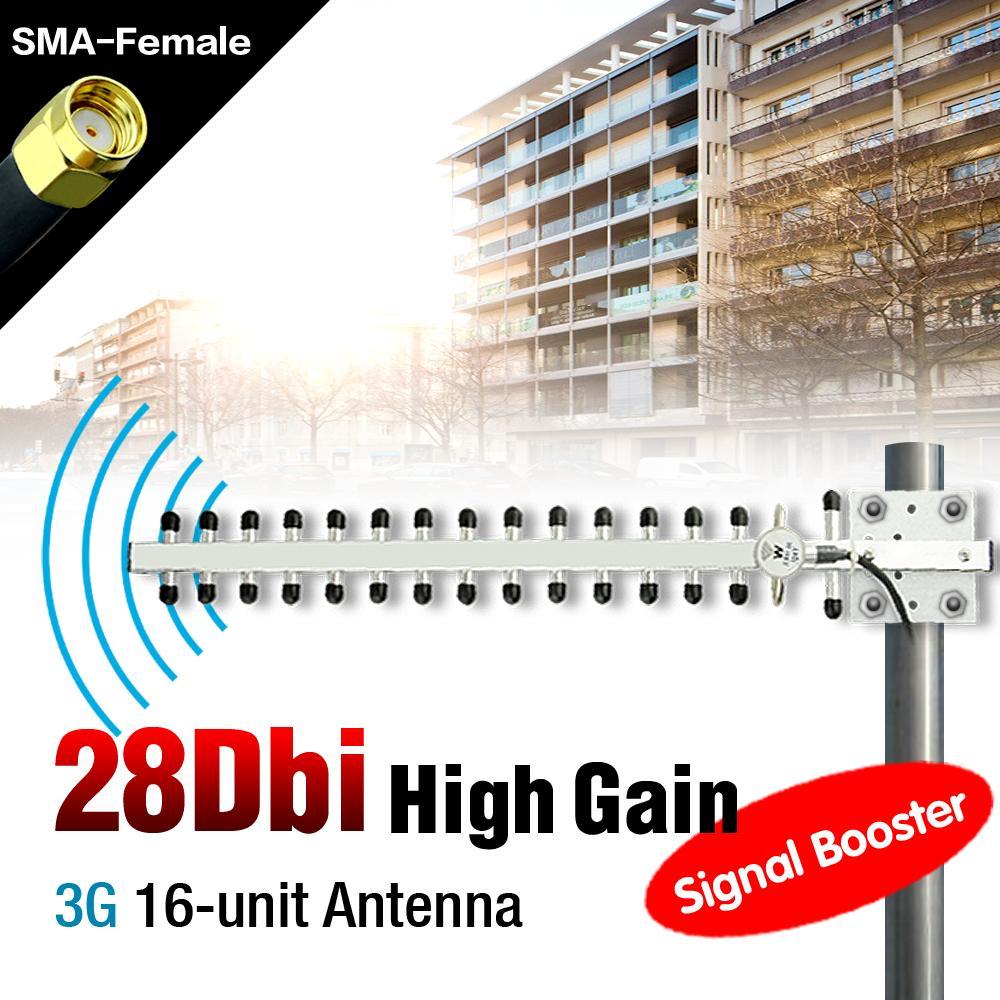 3G Wireless Broadband 28dBi Outdoor Yagi Antenna RP-SMA Plug Signal Booster Repeater 3G Antenna EL3490(China (Mainland))