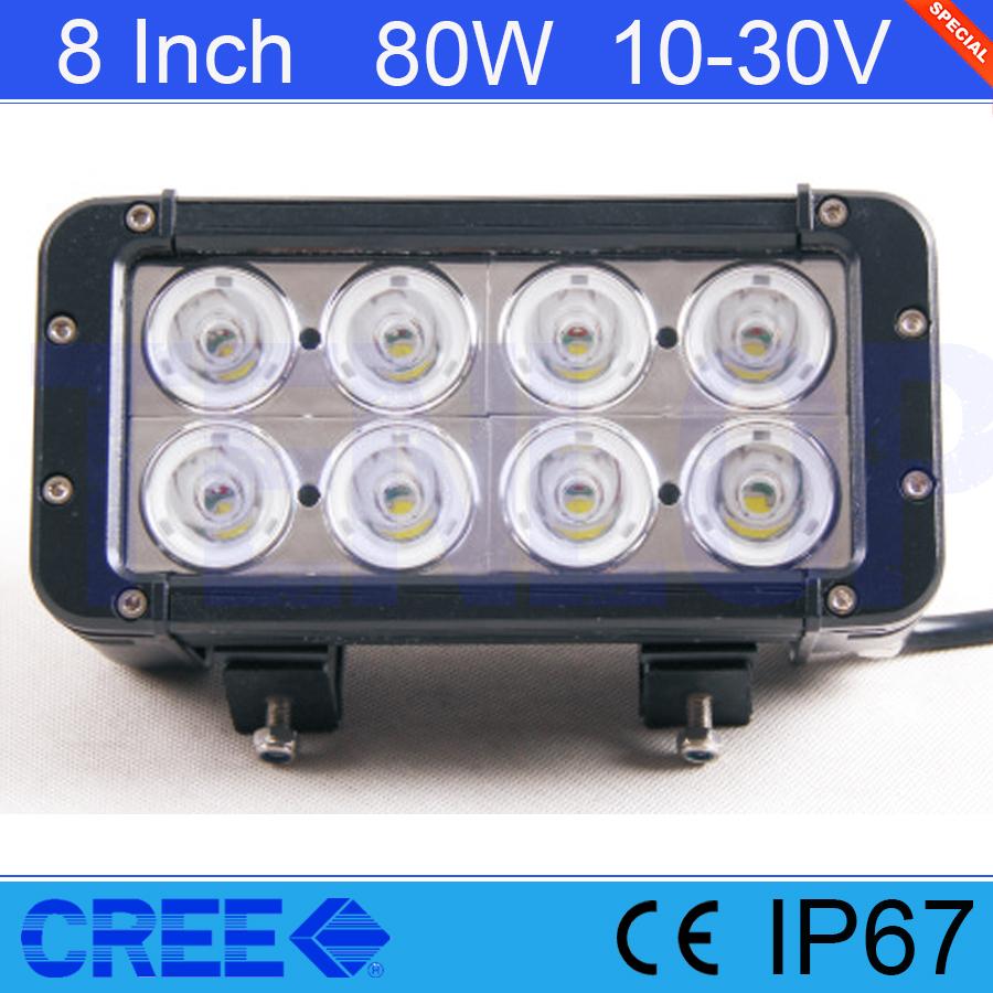 Light Sourcing 8 Inch 80W Cree Work Light For Offroad Wrangler ATV SUV 12V 24V<br><br>Aliexpress