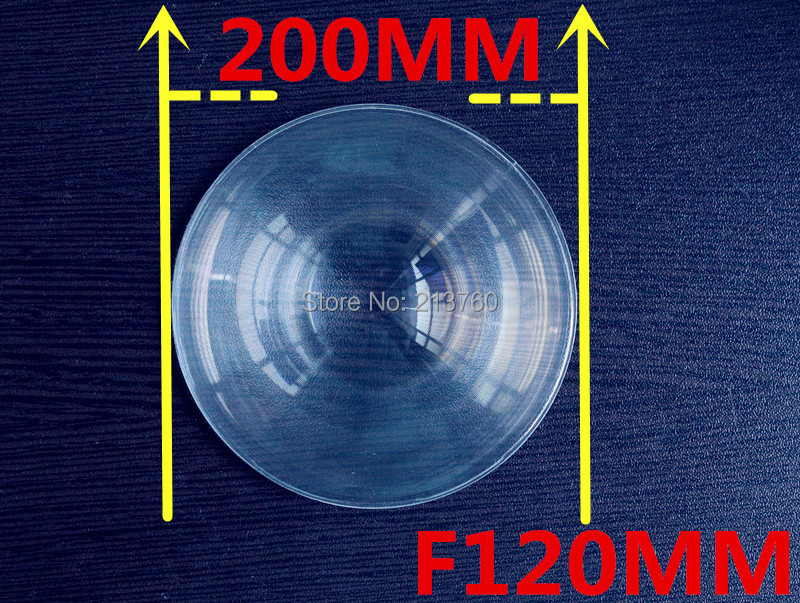 Fresnel Lens Diameter 200mm Focal length 120mm Solar Cooker , Lines from 0.5MM High light condenser(China (Mainland))