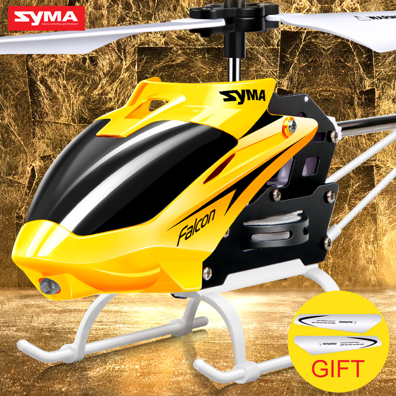 Syma W25 RC Helicopter Shatter Resistant Toy for Kids with Flashing LED Light Mini Remote Control Drone Gift for Children(China (Mainland))