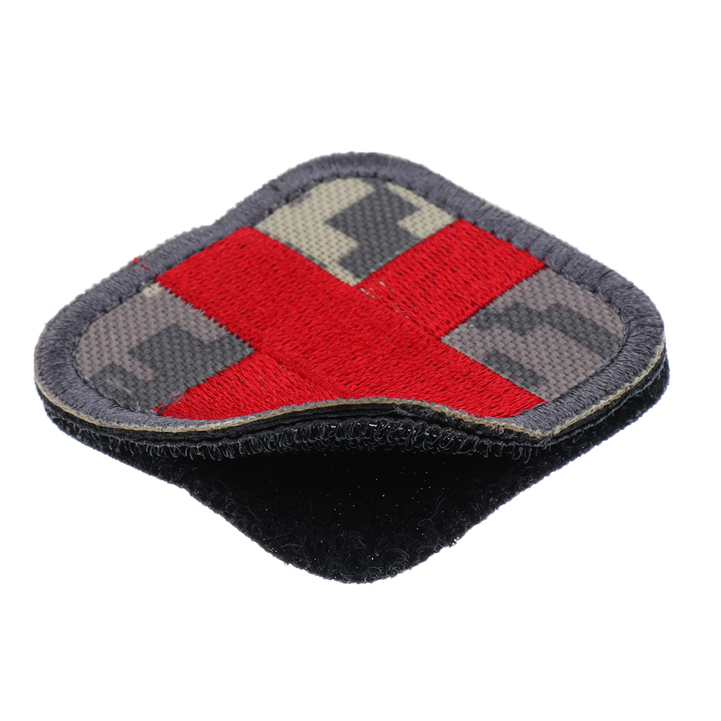 2 x 2 inch Hook & Loop Embroidered Red Cross Medic Patch for Bag Backpack First Aid Kit Pouch DIY Crafts Supplies