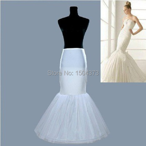 fashion mermaid white wedding skirt accessories slip 2014