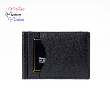 New leather money clip slim front pocket wallet with ID credit card slots unisex wallet business