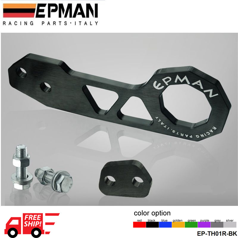 EPMAN Racing Rear Tow Hook FIT FOR HONDA CIVIC Integra RSX with EPMAN logo eight Color Option EP-TH01R-FS(China (Mainland))