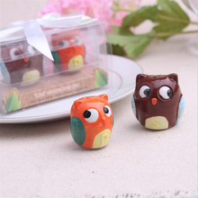 2Pcs Owl Always Love You Ceramic Salt Bottle Tools Pepper Shaker  Wedding Decoration Gifts Favors Supplies Party Souvenirs(China (Mainland))