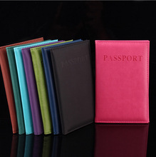 Hot Sales Business Card Holder Women Travel Passport Holder PU Leather Passport Cover ID Credit Card Holder Men Passport Wallet