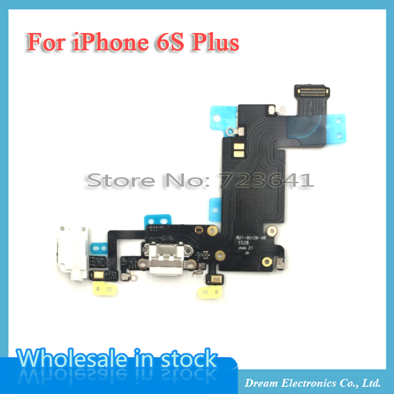 20pcs/lot NEW Charging Charger Port USB Dock Connector Flex Cable For iPhone 6S Plus 5.5'' with Headphone Jack Mic Flex Ribbon(China (Mainland))